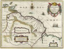 SÜDAMERIKA - GYANA - Henricus Hondius - kolorierte Karte 1631