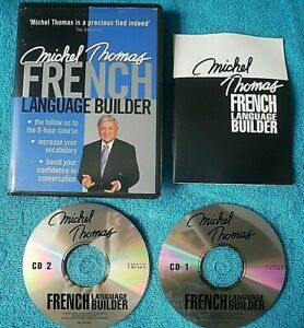 MICHEL THOMAS FRENCH LANGUAGE BUILDER 2 CD COURSE SET (LEARN FRENCH AUDIOBOOK)