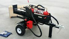 HUGE 50 Ton Commercial Grade Hydraulic Wood Log Splitter 15HP 420cc Gas Engine