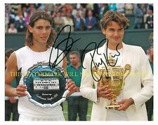 ROGER FEDERER AND RAFAEL NADAL SIGNED AUTOGRAPHED AUTO 8x10 RP PHOTO TENNIS