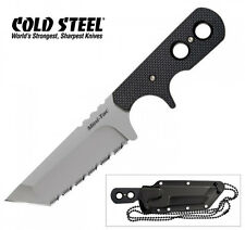 Cold Steel Mini Tac Tanto Knife Aus 8a Stainless Secure-ex Neck Sheath 49htf