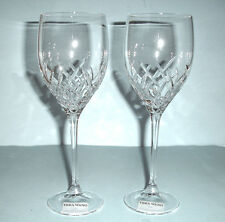 Vera Wang Wedgwood DUCHESSE ENCORE 2 Crystal Goblet Glasses 16 oz. New