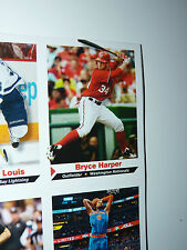 Uncut 2013 BRYCE HARPER + 8 Cards + Miguel Cabrera Poster APR 2013 SI for Kids