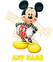 MICKEY MOUSE PERSONALISED A5 T SHIRT TRANSFER 5 DESIGNS TO CHOOSE FROM