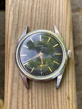 Zenith Sporto Cal 40-T Rare Vintage Watch Oversize Black Dial