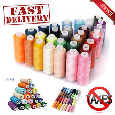 30 Sewing Assorted Machine Embroidery Thread Polyester Spool Lot Colors 250Yards