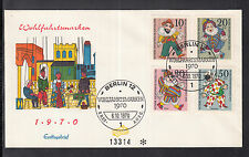 A 12 ) Germany Berlin beautiful FDC 1970 - Marionette figures