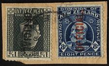 Handstamped Single New Zealand Stamps