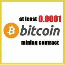 at least 0.0001 Bitcoin (BTC) 1 hour mining contract (Black Friday BTC)