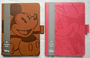 Hallmark Disney MICKEY & MINNIE MOUSE JOURNAL NOTEBOOKS Faux Leather Covers NEW!