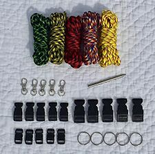 550 Paracord Survival Bracelet Cobra White//Harmony Camping Military Tactical
