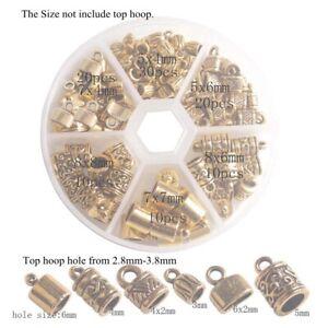 Cord end DOM34 Industrial 20 Pcs Inner 3mm 24k Matt Gold Bead Caps Bracelet end Solid End Cap