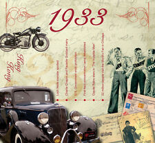 85th BIRTHDAY GIFT- 1933 Classic Retro Brit Pop CD and Year Greeting Card
