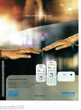 PUBLICITE ADVERTISING 116  2006   Nokia 611     télephone mobile gsm
