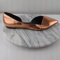 ASOS Womens Size 9 Metallic Bronze Classic D'Orsay Pointed Toe Slip On Flats