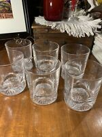 Set Of 6 Crystal Mid Century Old Fashioned/Tumbler/Wiskey Glasses~Quality~Gift
