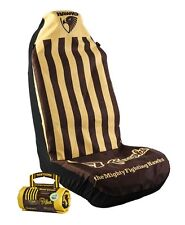 OFFICIAL AFL CAR SEAT COVERS x 2 - HAWTHORN - FITS 2 BUCKET SEATS