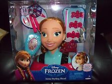 New Disney Frozen Anna Styling Head 14 Pieces With Wear & Share Accessories