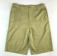 "Under Armour Tan Premium Golf Shorts Actual Size YXL (W32"")"
