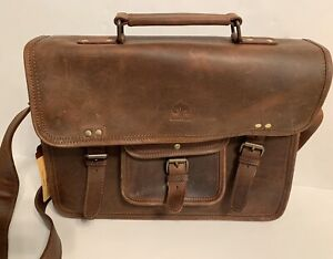 Rustic Town - Crossbody Laptop Bag Brown Rustic Leather NWT