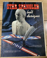 Make It With Leather 1976 Star Spangled Belt Design Template Leather Work