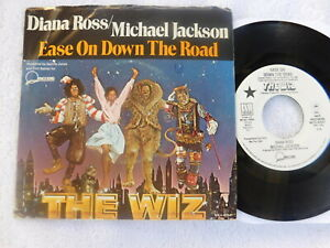 """Diana Ross/Michael Jackson  - Ease.. -  """"The Wiz"""" PROMO OST Picture Sleeve PS 7"""""""