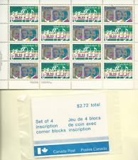Canada 1980 Scott 857-8, 2 SHEETS 16, 4 P/B's, 1 PAIR, MNH  O Canada Centenary