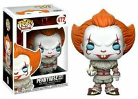 NUOVO Funko POP! MOVIES IT PENNYWISE WITH BOAT 472 VINYL FIGURE