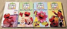 Lot of 4 Sesame Street ELMO'S WOLRD Series VHS Video Tapes CTW Sony Wonder EUC