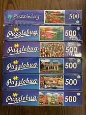 Puzzlebug jigsaw puzzles 500 piece lot (x6)
