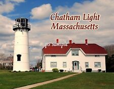 Massachusetts - CHATHAM LIGHT - Travel Souvenir Flexible Fridge MAGNET