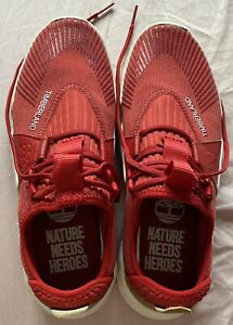 Mens Trainers Timberland Red Size 7.5