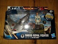 Hasbro Star Wars Naboo Royal Fighter With Obi-Wan Kenobi NEW