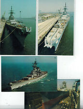 Mint Naval Postcard COLLECTION OF 4 BATTLESHIP USS NEW JERSEY BB-62