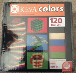 New Keva Colors Simple Planks Colorful Possibilities 120 Plank Set Mindware