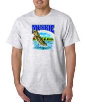Gildan Short Sleeve T-shirt Fish Muskie Fishing Wildlife Animals