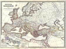 Mapa del Imperio romano bajo Constantino De Colección cartel impresión 12x16 pulgadas 2953PY