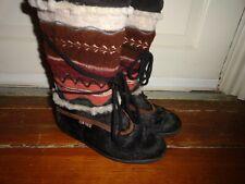 TECNICA~Lady's Goat Fur Boots  Sz 39/8  ITALY