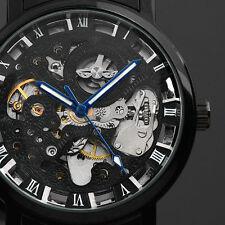 Montre homme ESS mécanique Squelette Bracelet acier inoxydable Noire Mode WM282