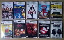 Lote de trabajo raros Coleccionistas Sellado 10 X MMC tarjeta de medios digitales 128 MB películas/Películas