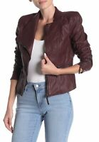 New Women's BLANKNYC Faux Leather Fitted Moto Jacket Size XS NWT $98
