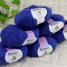 Sale New 6BallsX25g Luxury Soft Mohair Warm Wrap Shawl Hand Knit Crochet Yarn 25