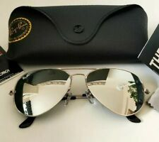 Ray-Ban Aviator Large Metal RB3025-58/Large - Silber verspiegelt. Top Zustand!