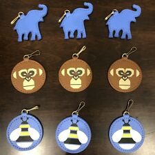 ESTEE LAUDER Animal Charms Bag/Zipper Pull/Key Faux Leather Clip On, Lanyard X9
