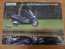 Suzuki 400 Burgman Scooter Sales Brochure 2001