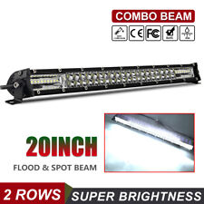"20Inch 520W Straight Slim Row Led Light Bar Spot Flood Combo SUV UTE ATV 22""21"""
