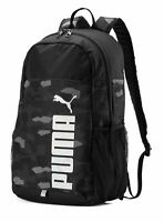 Puma Camo Black Backpack Rucksack / Puma Black-Camo / College School Travel