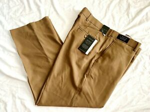 J. Ferrar Mens Modern Fit High Performance Wool Brown Dress Pants Size W38  L29