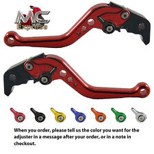 MC Short Adjustable CNC Levers Honda CB599 / CB600 HORNET 1998 - 2006 Red