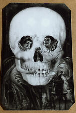 Scarce & Rare Victorian Skull Illusion #7 tintype C1052RP
